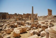Roman tempel van ruïnesbacchus Royalty-vrije Stock Foto