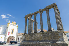Roman temple in Évora Royalty Free Stock Images
