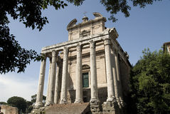 Roman temple Royalty Free Stock Photo