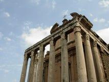 Roman Temple. Old Roman Temple--Forum Romanum in Rome, Italy stock photography