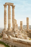 Roman temple on the Amman citadel, Jordan Royalty Free Stock Image