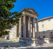 Roman temple - Pula Stock Images