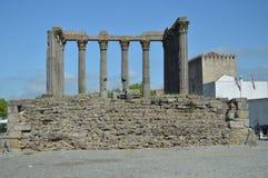 Roman Temple av Diana i Evora royaltyfri bild