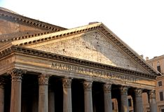 Roman temple called the PANTHEON in Rome Royalty Free Stock Photos