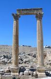 Roman Temple in the city of Jerash Stock Photos