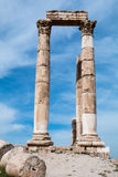 Roman Temple Columns Royaltyfria Bilder