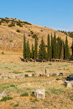 And the roman temple  construction in asia turkey  column Royalty Free Stock Photography