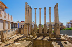 Roman temple, Cordoba, Spain stock photos