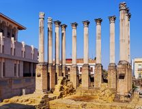 Roman Temple in Cordoba, Spain Royalty Free Stock Images