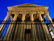 The Roman Temple, important historical monument.Vic , Barcelona , C. The Roman Temple, dating back to the beginning of the 1st century, is Vic's most royalty free stock photo