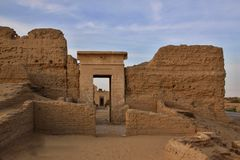 Roman Temple in Deir EL-hagar Lizenzfreie Stockfotos