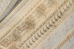 Roman Temple Details in Nimes, Provence, France Royalty Free Stock Image
