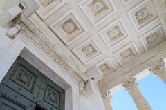 Roman Temple Details in Nimes, Provence, France Stock Images