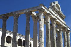 Roman temple of Diana Stock Images