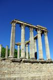 Roman temple of Evora. Ruins of Roman temple in  Evora, alentejo, Portugal Royalty Free Stock Photography