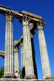 Roman temple of Evora. Ruins of Roman temple in Evora, alentejo, Portugal royalty free stock photography