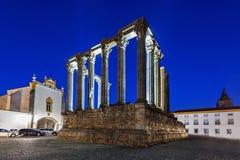 Roman Temple, Evora Immagini Stock Libere da Diritti