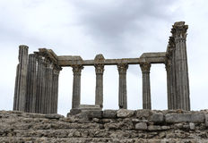 The Roman Temple of Evora Stock Photos