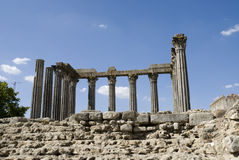 Roman Temple, in Evora - Portugal Stock Photos