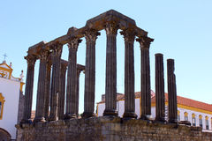 Roman temple, Evora, Portugal Royalty Free Stock Photo