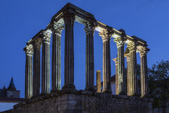 Roman Temple - Evora - Portugal Royalty Free Stock Photos