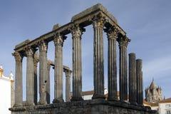 Roman Temple - Evora - Portugal Stock Photo