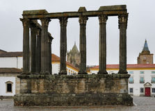 The Roman Temple of Evora, Portugal Stock Photo