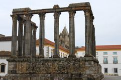 Roman Temple in Evora, Portugal Royalty Free Stock Photos