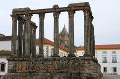 Roman Temple in Evora, Portugal Royalty Free Stock Photos