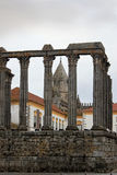 Roman Temple in Evora, Portugal Stock Images
