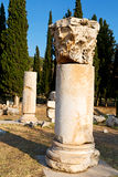 And  roman temple history  asia turkey the column Stock Images
