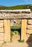 And  roman temple history  in asia turkey the column Royalty Free Stock Photos