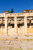 And the roman temple history  construction in asia Royalty Free Stock Image