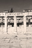 And the roman temple history pamukkale    old construction in as Royalty Free Stock Photos