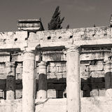 And the roman temple history pamukkale    old construction in as Stock Photos