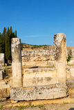 And the roman temple history pamukkale Stock Image