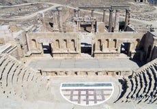 Roman Temple i staden av Jerash Arkivbild