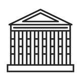 Roman temple icon. In simple outline style. This icon are perfect for your websites and applications royalty free illustration