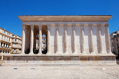 Roman Temple Maison Carree Stock Image