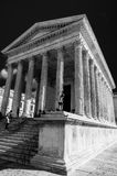 Roman temple Maison Carree in city of Nimes, France Royalty Free Stock Images