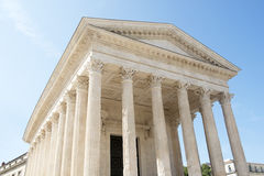 Roman Temple Maison Carree in Nimes Royalty Free Stock Image