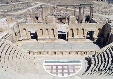 Roman Temple na cidade de Jerash Fotografia de Stock