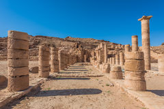 Roman temple in nabatean city of  petra jordan Stock Images