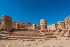 Roman temple in Nabatean city of  Petra Jordan Royalty Free Stock Photos