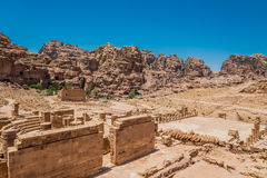 Roman temple in Nabatean city of  Petra Jordan Stock Photography