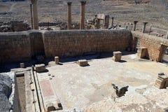 Roman Temple nella città di Jerash Immagini Stock Libere da Diritti