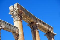 Roman Temple nella città di Jerash Fotografie Stock