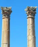 Roman Temple nella città di Jerash Immagine Stock Libera da Diritti