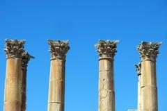 Roman Temple nella città di Jerash Fotografia Stock Libera da Diritti