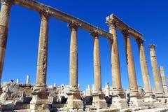 Roman Temple nella città di Jerash Fotografie Stock Libere da Diritti